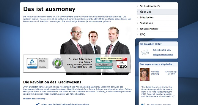 auxmoney Kritiken in der Presse