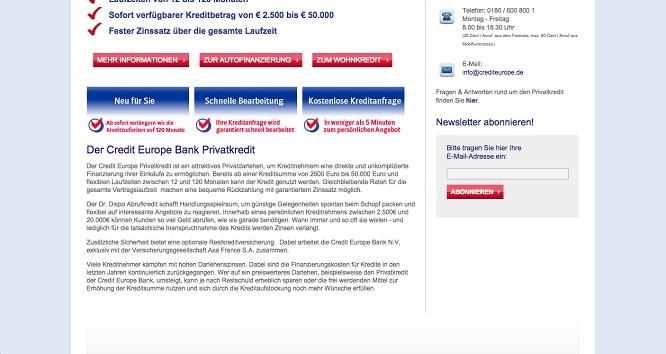 Credite-Europe-Bank Erfahrungen im Detail