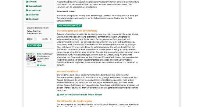 Creditplus-Bank Fragen und Antworten