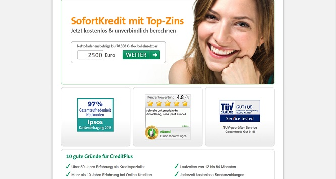 Creditplusbank als Alternative zum Sparkassenkredit