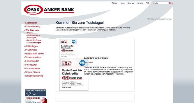Fachpresse zur Oyak Anker Bank