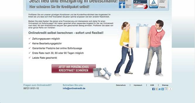 onlinekredit.de in der Übersicht