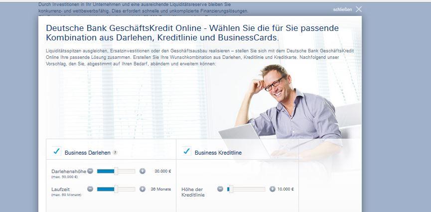 Der Business Kredit der Deutschen Bank