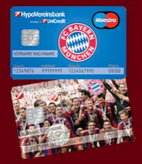 FC Bayern Kreditkarte bei der HypoVereinsbank