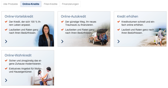 Homepage von Targobank 1