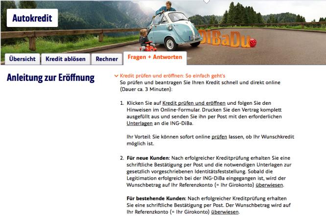Homepage von ING-DiBa 2