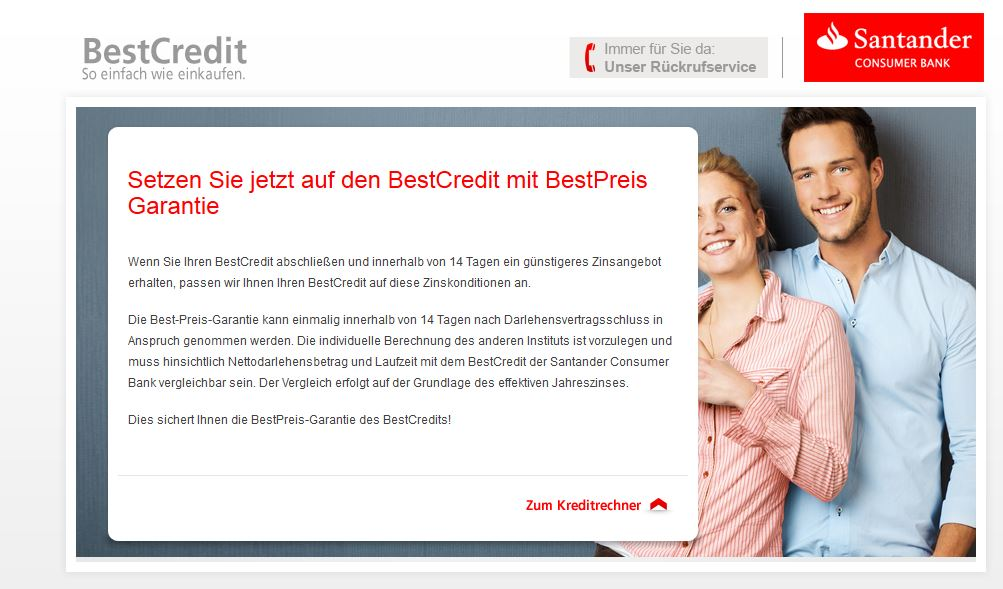 Santander Consumer Bank Garantie