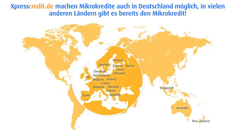 Übersicht über Mikrokredite in Deutschland und anderen Ländern