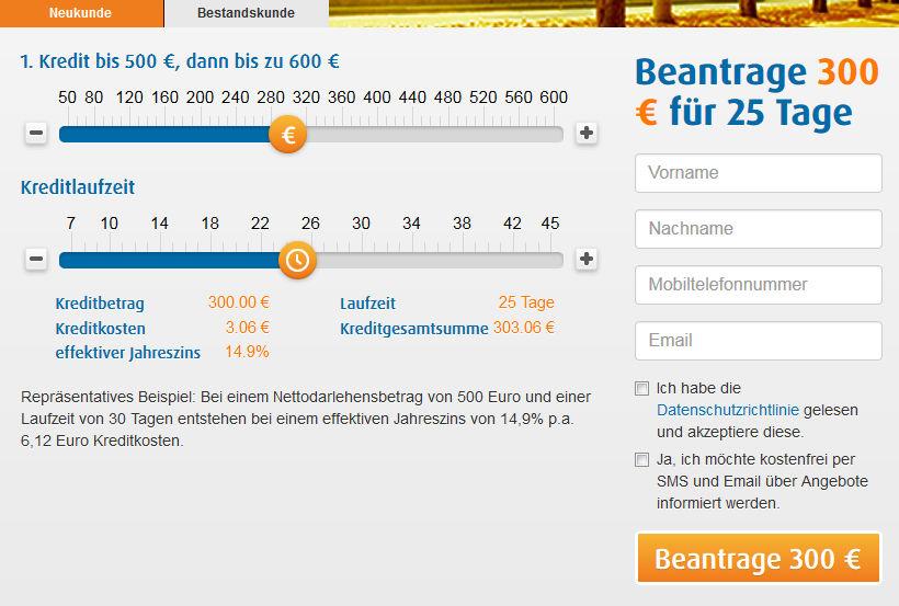 Kreditrechner Schufafreier Blitzkredit