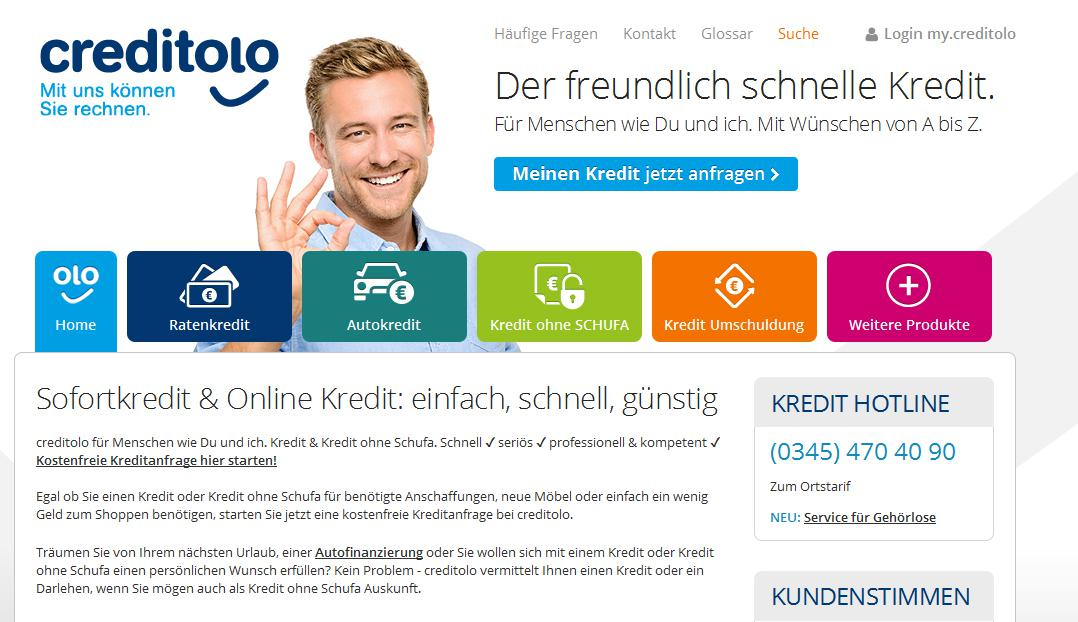 Creditolo Webseite