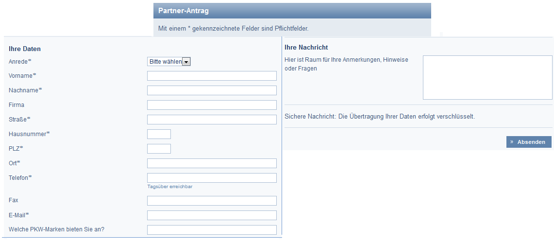 Partnerantrag der DSL Bank