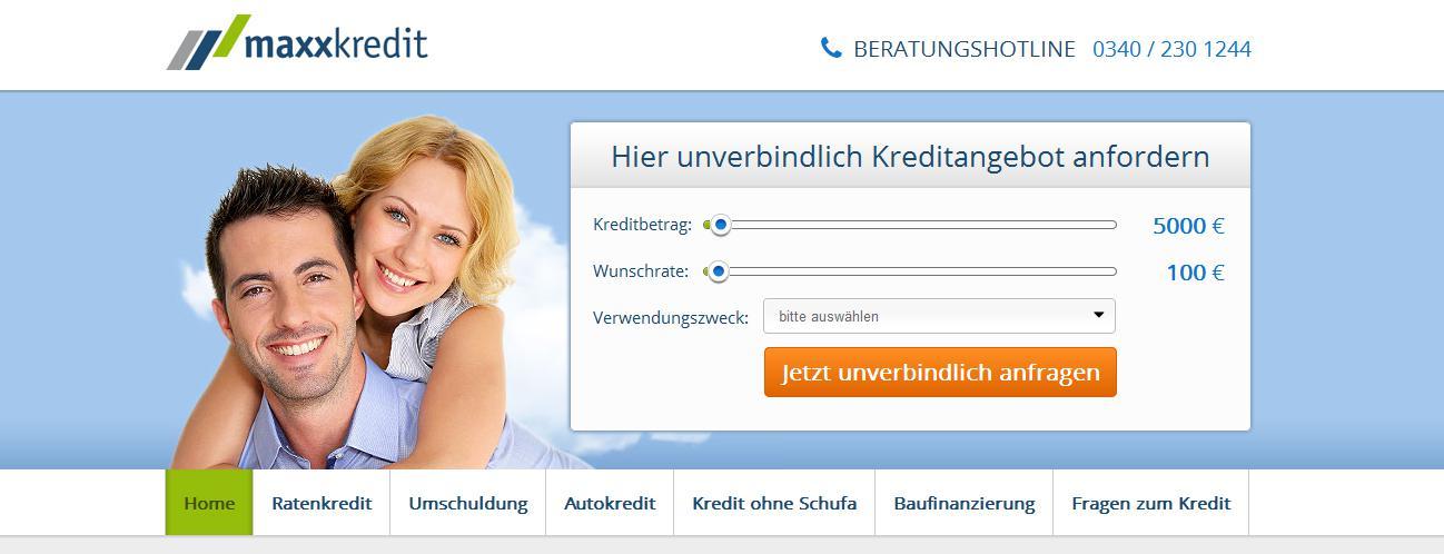 maxxkredit Kreditangebot