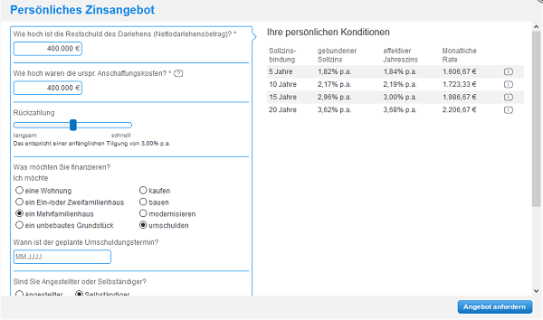 Screenshot Zinsangebot DKB Bank