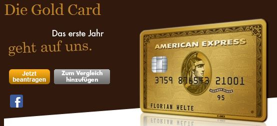 Die American Express Gold Card im Überblick