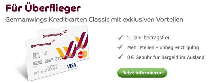 Die Germanwings Kreditkarten und ihre Vorteile