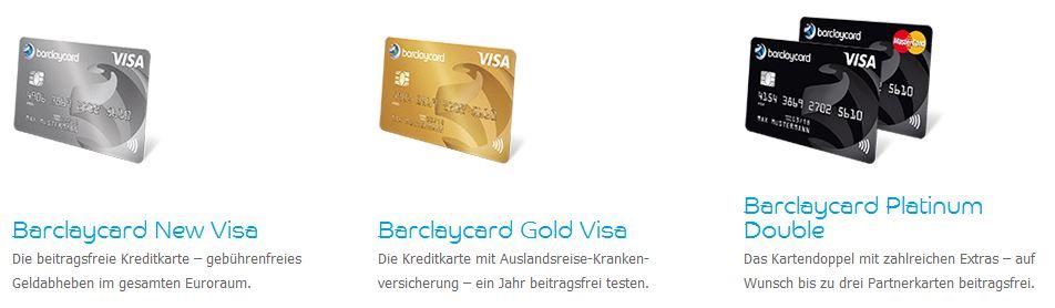 Die Barclaycards im Überblick