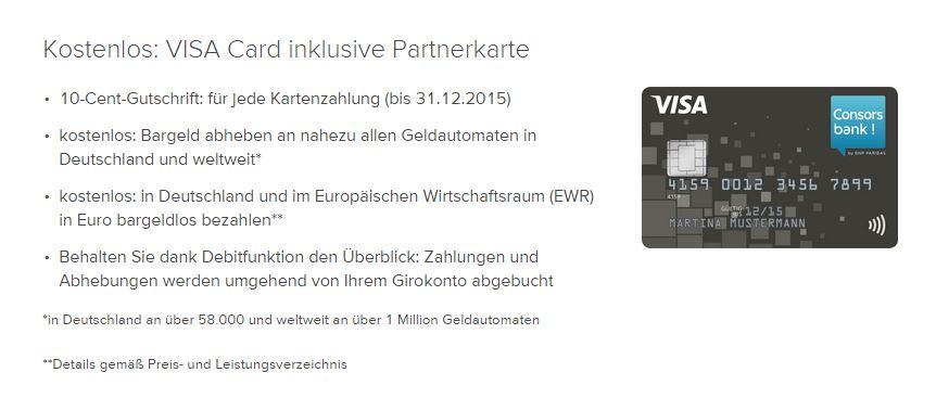 Alt-Tag: Alle Vorteile der Consorsbank VISA Classic!