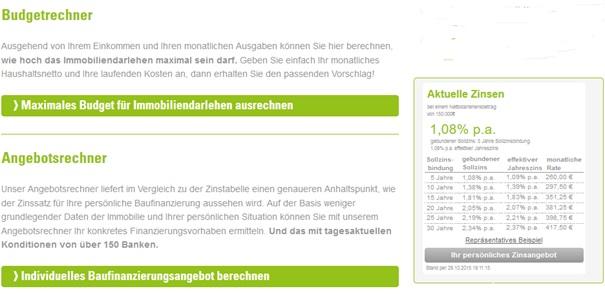 Planungsinstrumente von Creditweb