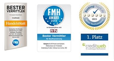 Creditweb Baukredit Auszeichnungen