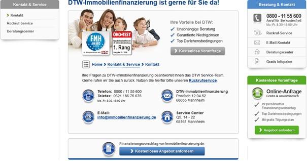 Kundenservice von DTW