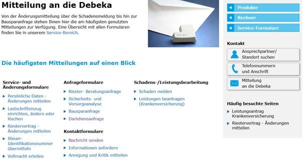 Überblick zum Debeka Support