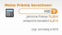 Prämienrechner beim Deutschen Mietkautionsbund
