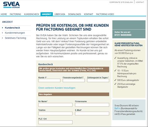 Der Kundencheck bei SVEA Ekonomi