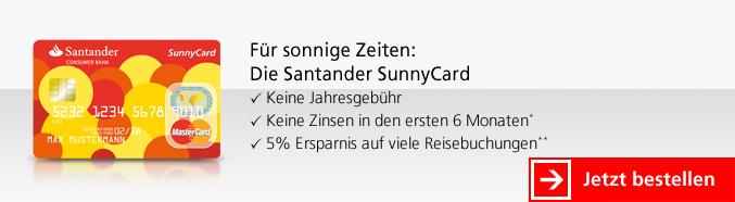 SunnyCard der Santander Consumer Bank