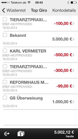 Wüstenrot Banking App