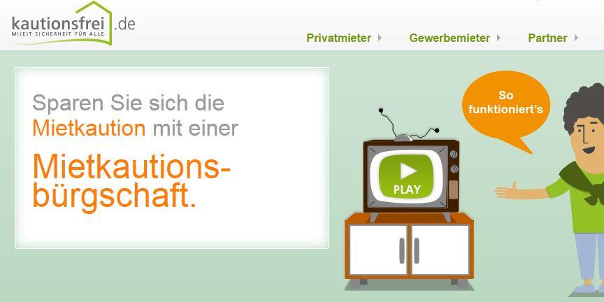 Überblick über das kautionsfrei.de-Angebot