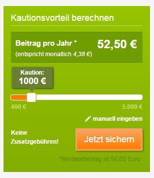 Kautionsvorteil bei kautionsfrei.de