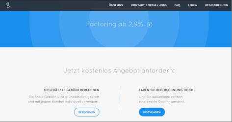 Homepage von Decimo