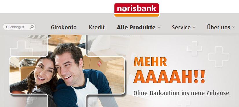 Statt Barkaution zur norisbank!