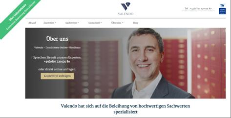 Die Kontaktmöglichkeiten bei Valendo