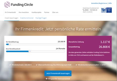 Der Kreditrechner von Funding Circle