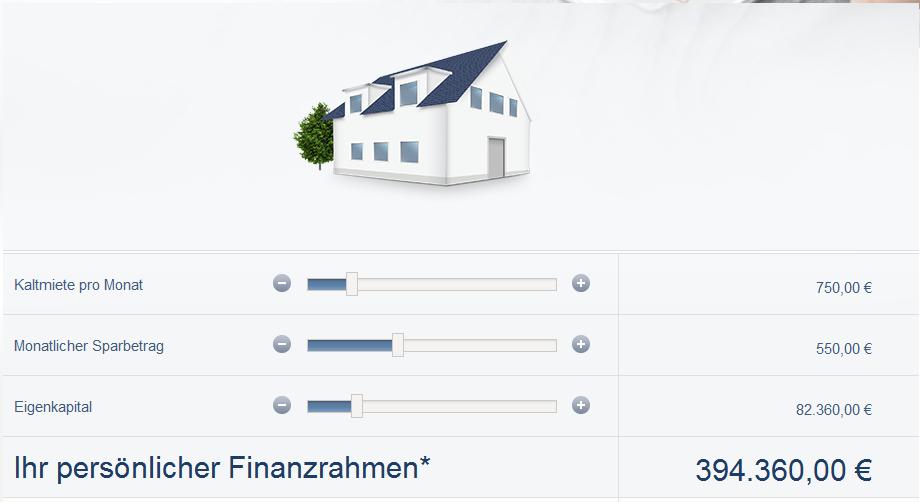 Der Baufinanzierungsrechner der DSL Bank