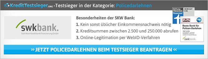 Der Policendarlehen Vergleich von kredittestsieger.org
