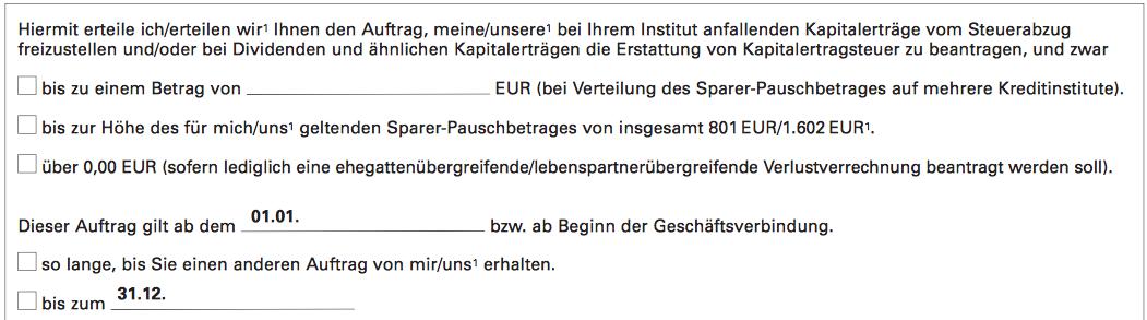 Auftragsformular 1822direkt