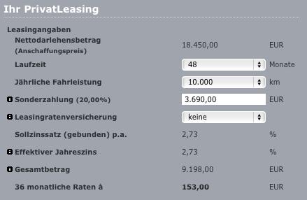 Leasingrechner Audi Bank