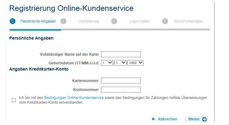 Einfache Registrierung per Dateneingabe