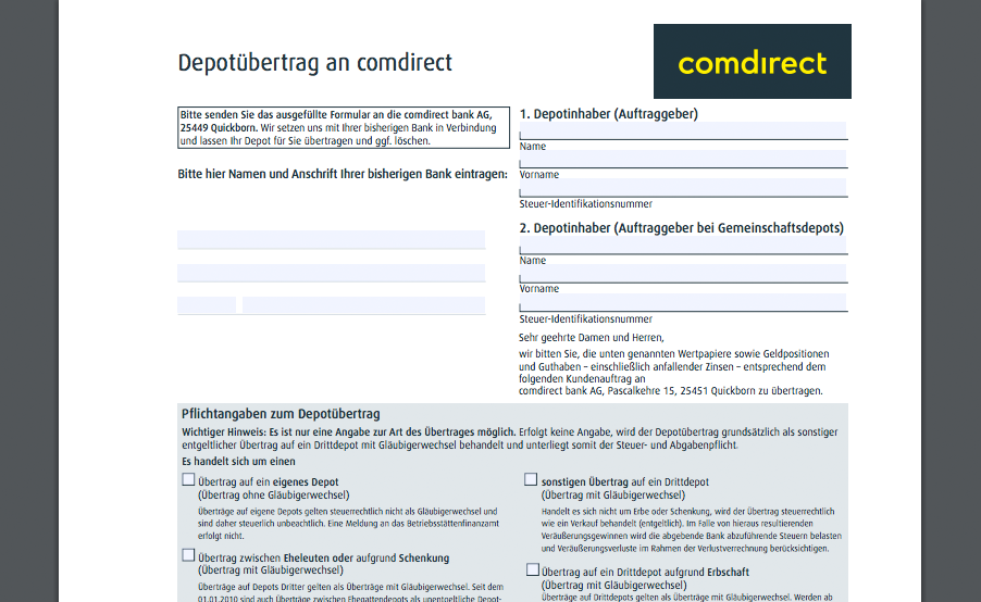 comdirect bank aktie