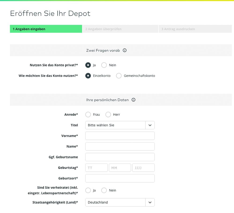 comdirect depot kosten