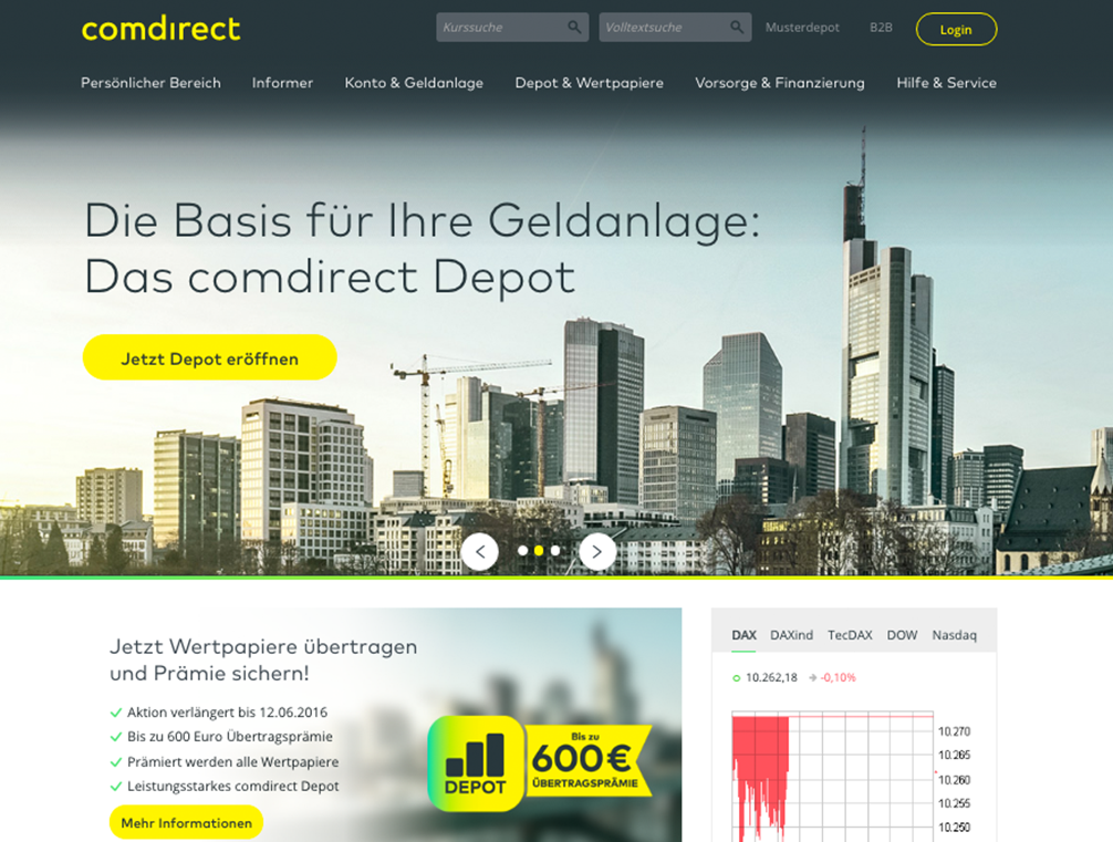 comdirect depot konditionen