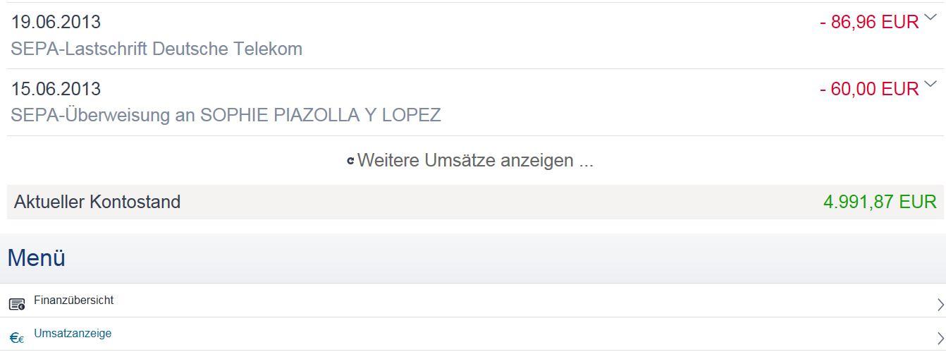 Demokonto Deutsche Bank