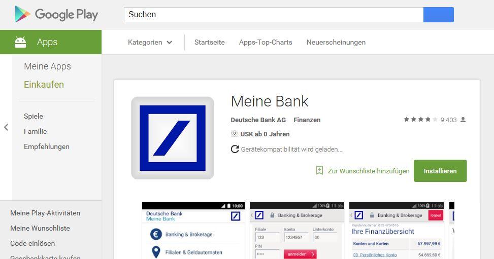 Die App im Google Play Store