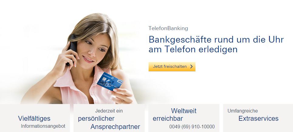 TelefonBanking bei der Deutschen Bank