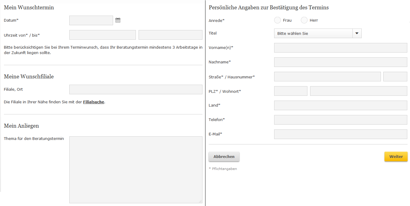 Die Registrierung zum Online-Banking der Commerzbank