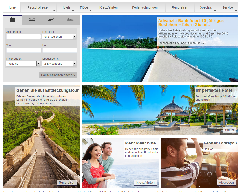 Das Reisecenter für creditolo Kunden