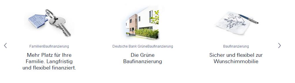 Finanzierungsvarianten der Deutschen Bank