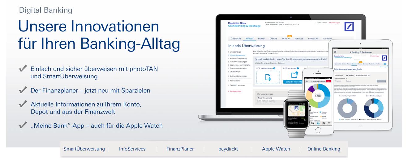 Das Online Banking Angebot der Deutschen Bank